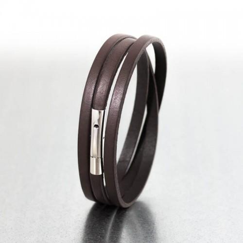 Bracelet cuir Brun