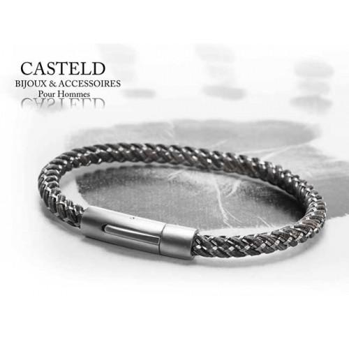 Bracelet Cable gris