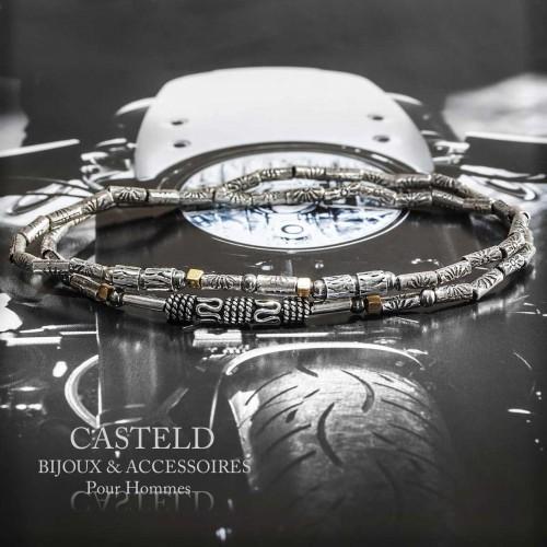 Bracelet Homme Double Silver