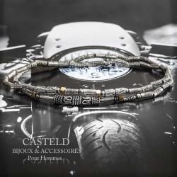 Bracelet tendance homme perle