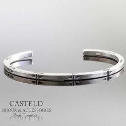 bracelet jonc en argent pour homme