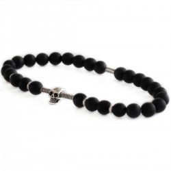 bracelet tête de mort perles