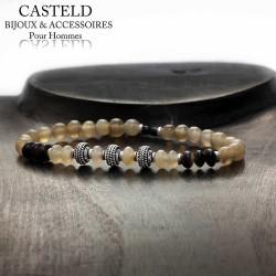bracelet pour homme perle