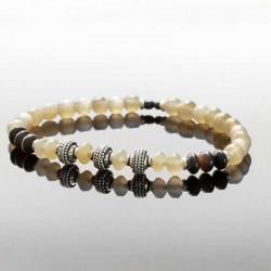 Bracelet homme en perle corne naturel