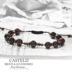 perles naturelles pour ce bracelet homme