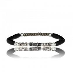 bracelet homme corne et argent- bijoux homme