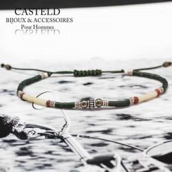bracelet homme original en argent et perle