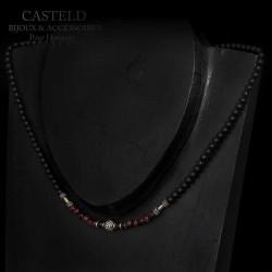 collier pour homme en perles luxe