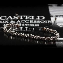 bracelet pour homme argent monté sur lien