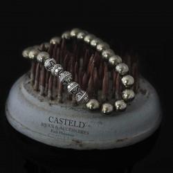 bracelet homme argent, un bijou luxe en perle