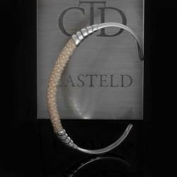 un véritable bracelet homme de cuir Galuchat