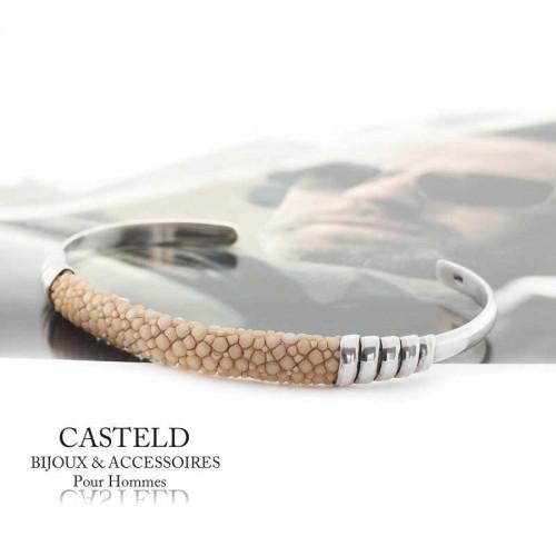 Bracelet Jonc Galuchat