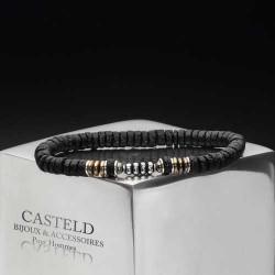 bracelet homme pierre de lave et argent- un bijou tendance