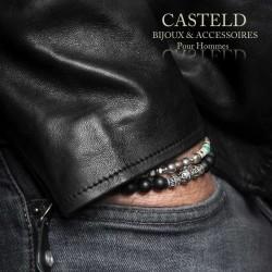 Bracelet perle homme et argent