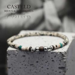 bracelet tendance homme en perle
