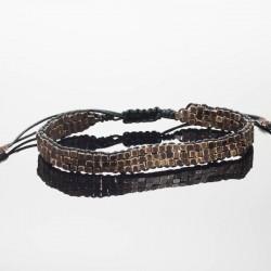 bracelet en perle de bronze