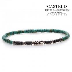 Bijoux bracelet turquoise pour homme