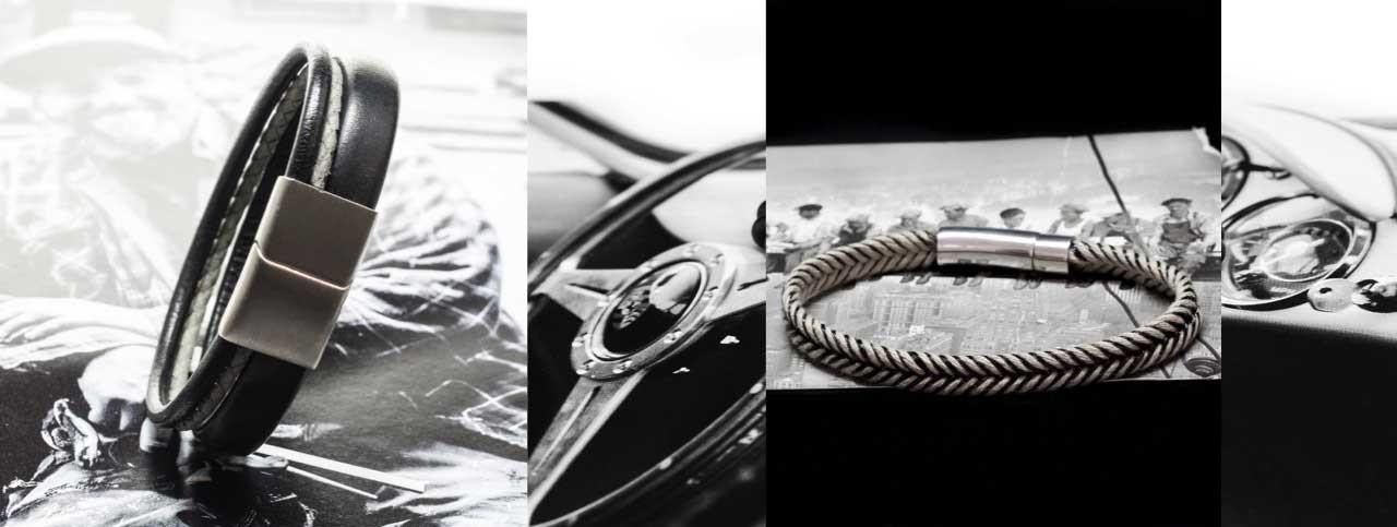 Bracelet cuir homme : vente de bijoux tendance I CASTELD