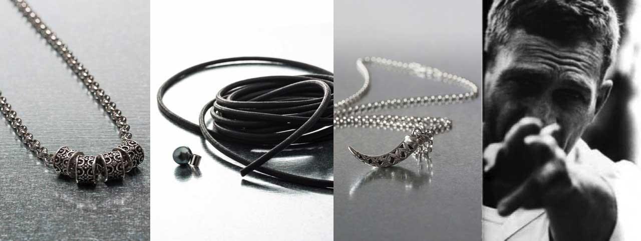 Collier homme, collier perles pour homme , collier tendance et moderne