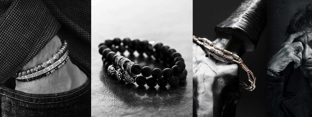 Bracelet perle homme - Adoptez les bracelets en perle homme CASTELD