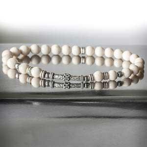 bracelet blanc perle pour homme