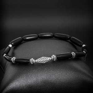 bracelet-homme-perle-corne