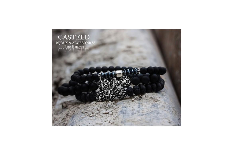 Bracelet homme perle : bijoux homme tendance en perles I CASTELD