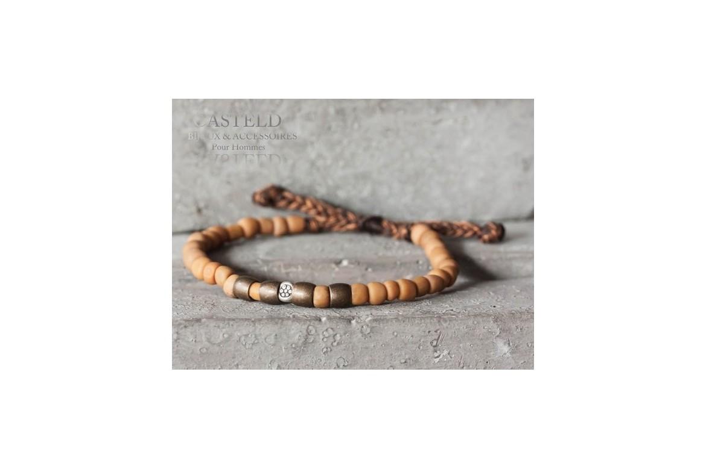 Bracelet perle bronze : bijoux tendance pour homme I Casteld