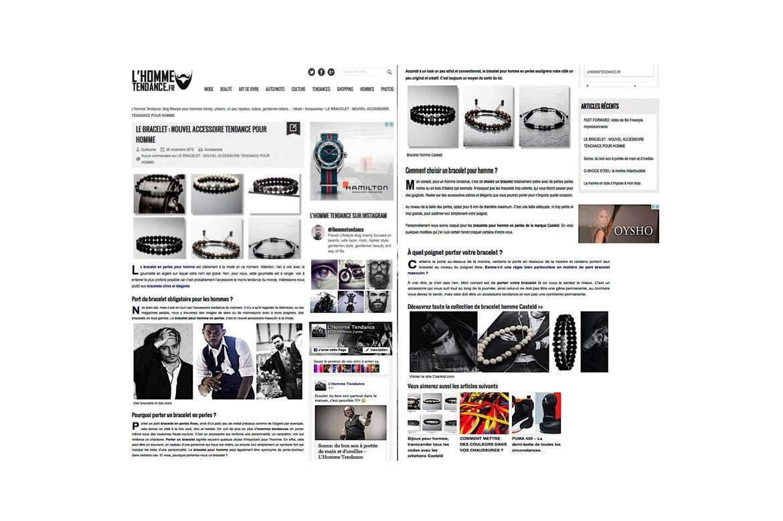 Bijoux homme : bracelet et collier tendance pour homme
